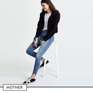 MOTHER The Stunner High Rise Ankle Fray Jeans